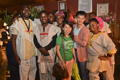 Vietnamese celebrity Xuan Bac , part of a Vietnamese delegation to South Africa, is urging is fans to help protect rhinos. Photo credit: Rhinose Foundation / courtesy of Education for Nature-Vietnam (ENV)