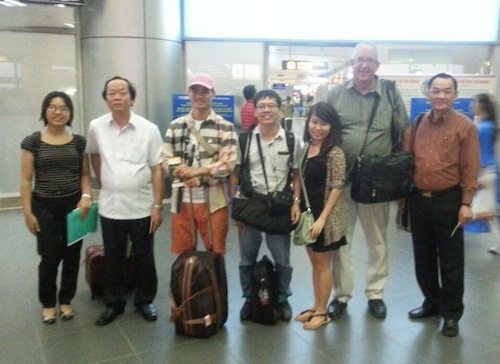 Vietnamese delegates embarking on the ten-day investigation in South Africa. Photo courtesy of Education for Nature-Vietnam (ENV)