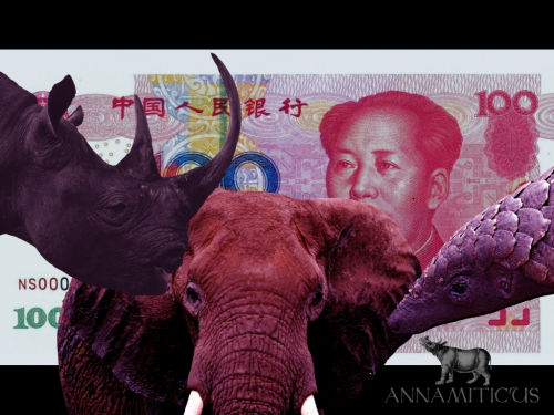 The People's Bank of China depreciated the Yuan by almost two percent against the U.S. dollar to levels from three years ago. How might this impact illegal wildlife trade? Image: Annamiticus