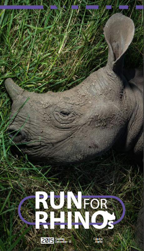 """Run for Rhinos"" will help bring attention to the crisis rhinos are facing as a result of poaching for their horns, which are used in traditional medicine and as status symbols."