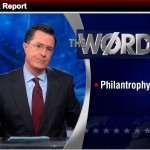 Colbert Comments on Controversial Black Rhino Hunt: The Word — 'Philantrophy'