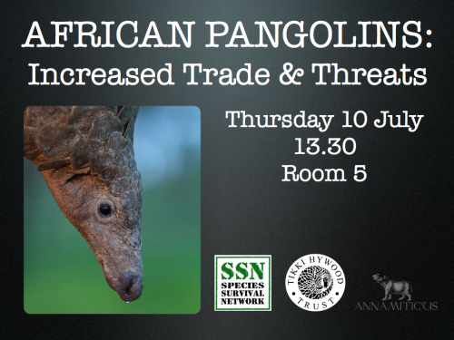 The Species Survival Network organized a side event  at SC65 about trade in African pangolins.