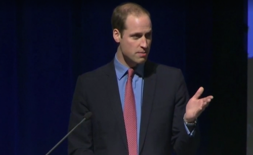 "Prince William called wildlife trafficking ""one of the most insidious forms of corruption"" in his World Bank address on Monday, Dec. 8, 2014. (screenshot via The Washington Post video)"