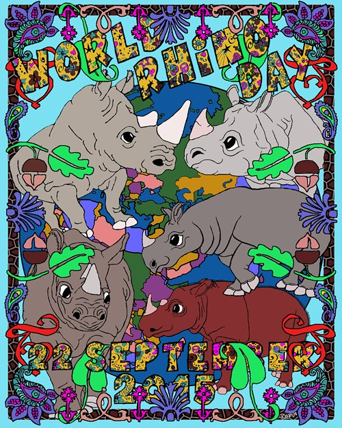 The Sixth Annual World Rhino Day will be celebrated September 22, 2015!