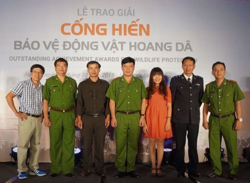 Meet the winners of the second annual Outstanding Achievement Awards for Wildlife Protection! Photo: Education for Nature-Vietnam (ENV)
