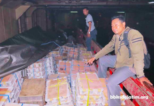 These crates were stuffed with 2,711 live birds and seized from a passenger ship in East Java.